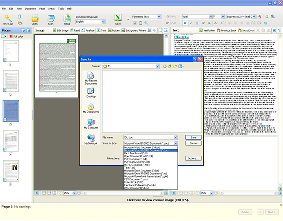 The PDF file is saved in Word format