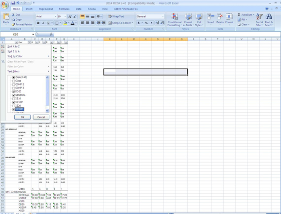 Format the fields in the converted Excel file as per the requirement.