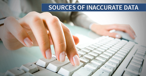 Sources of Inaccurate Data in Data Entry Process