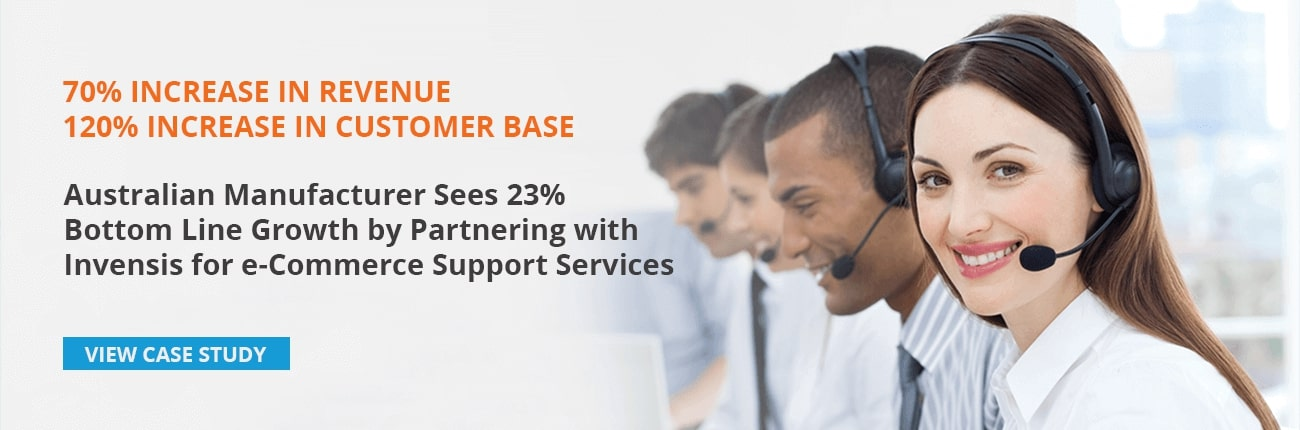 Invensis, a leading IT Services company, offers customer care call center services to clients globally. Download case study and read how an Australia based manufacturing company increased sales and customer satisfaction.