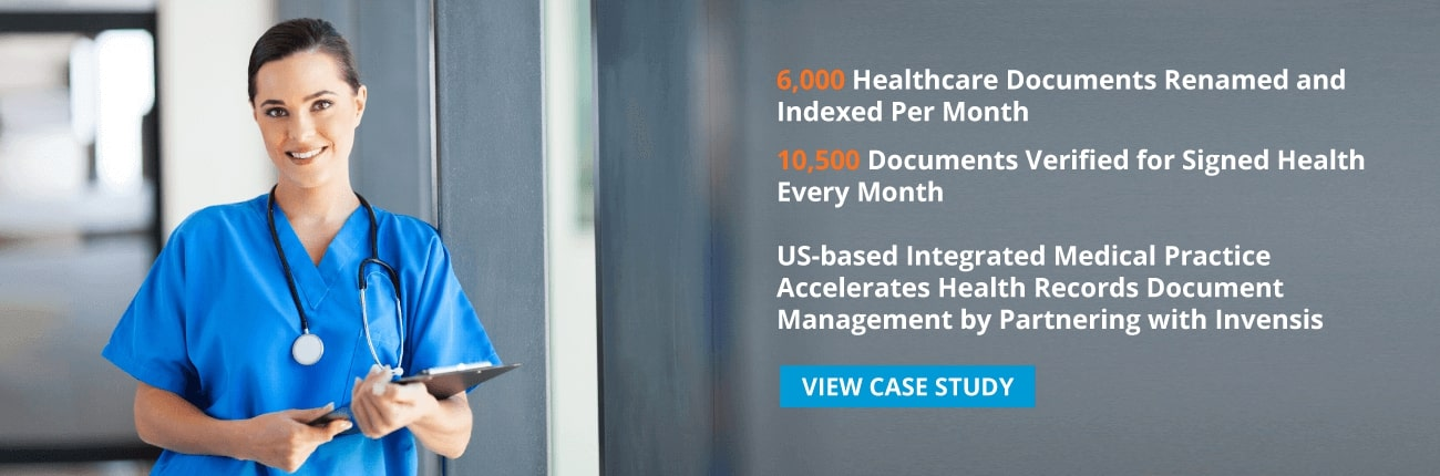 Invensis offers complete healthcare support services starting with patient admission and charge capture, to claims processing and receivables management. Download case study and read how an US based integrated medical practice provider got 250% increase in their document verification services.